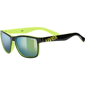 UVEX LGL 39 Lunettes, black lime/mirror yellow